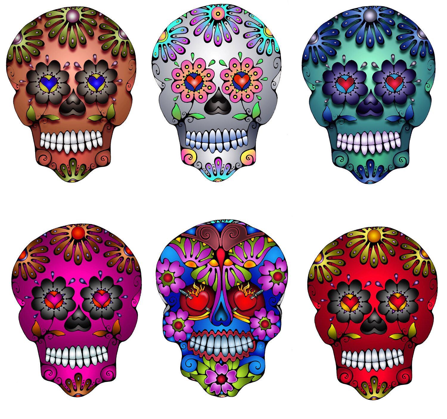 Mexican Folk Art Silver Day of the Dead Sugar Skull Decal by HollyvisionArt on Etsy https://www.etsy.com/listing/74414907/mexican-folk-art-silver-day-of-the-dead