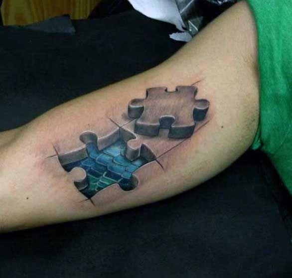70 Puzzle Piece Tattoo Designs For Men Inquisitive Mind