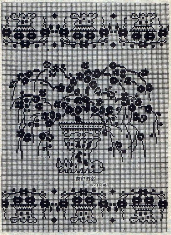 八十年代的钩针蕾丝方格图案 - 茗宴 - 茗香夜宴