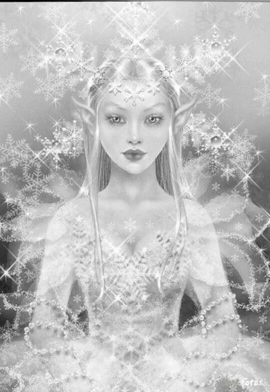 The snow queen coloring page for adults Een projectjes ...