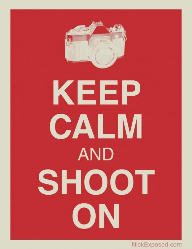 Keep Calm and shoot on | Anonymous ART of Revolution