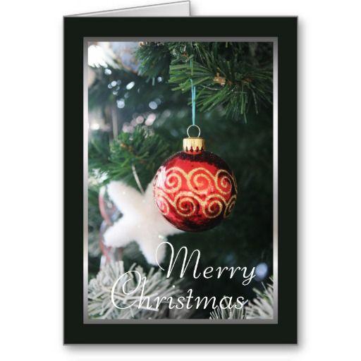 Christmas Tree  Bulb Merry Christmas Card Christmas Cards