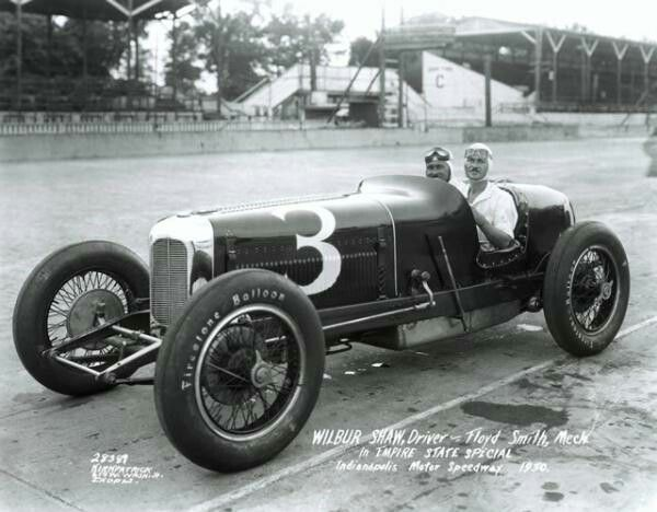 Wilbur Shaw And Riding Mechanic In 1930 With Images Indy Cars