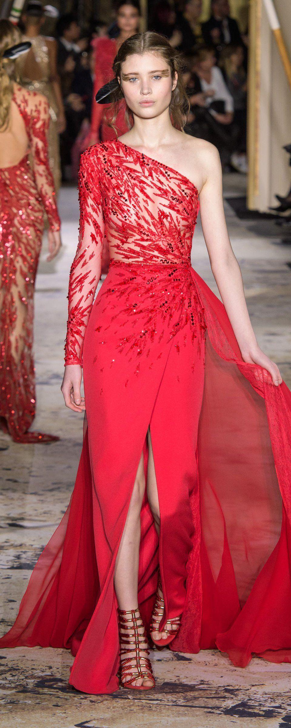 Zuhair murad springsummer couture red hot mama pinterest