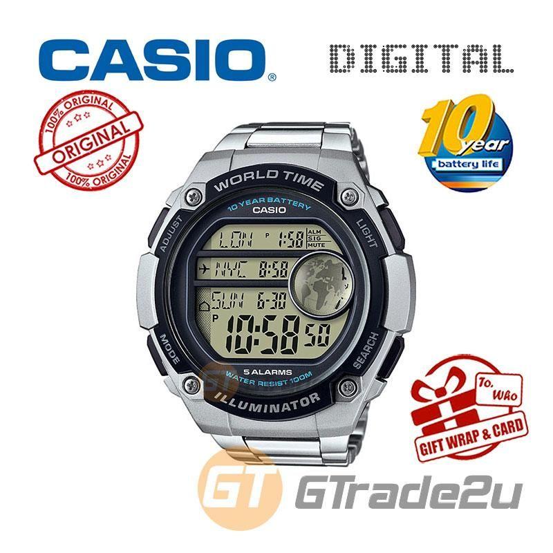 Casio Men Ae 3000w 9av Digital Watch 3 Cities Time Disp 10 Yrs Batt Lazada Digital Sports Watches Big Watches Watches For Men