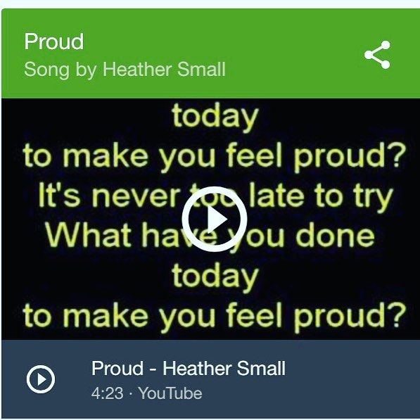 """http://ift.tt/1RqEPU4. Mantra for the week """"what have you done today to make you feel proud?"""""""