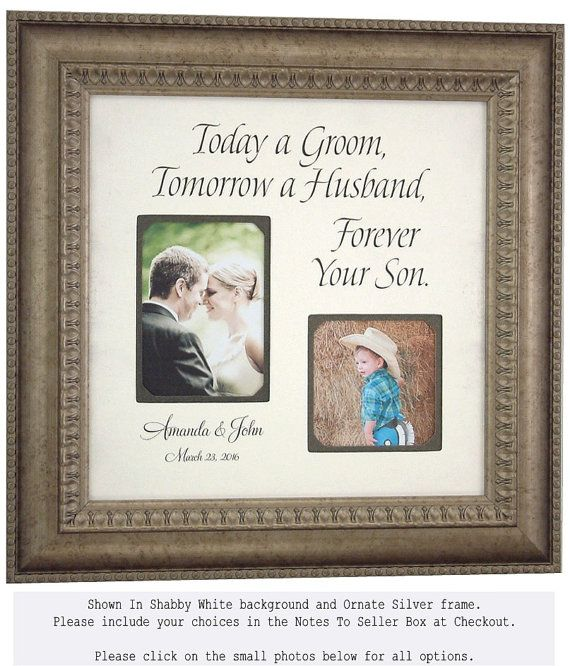 MOTHER of the GROOM Gift, Custom Wedding Frame, Father of the Groom ...