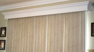 Wooden Cornice For Over Vertical Blinds