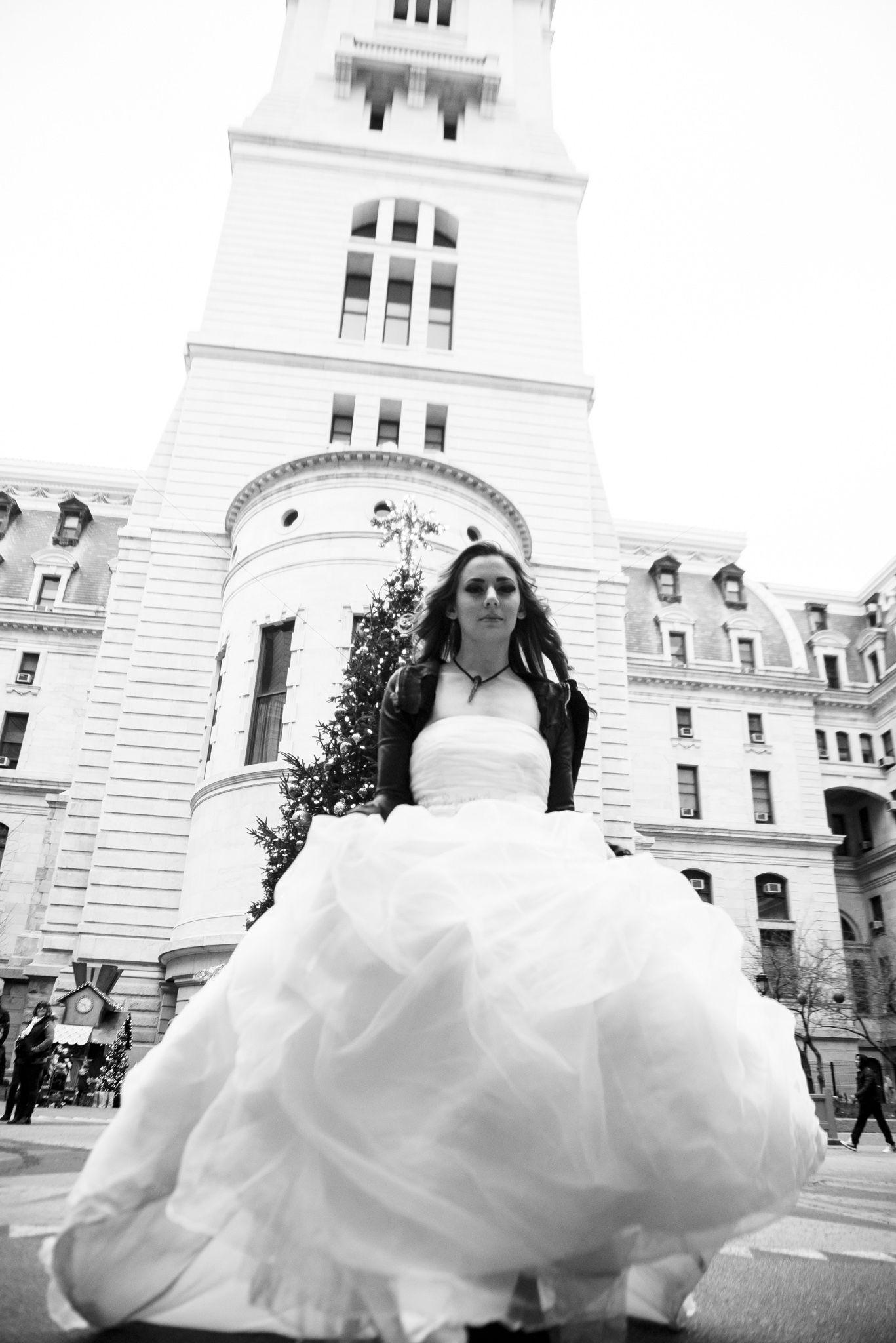 Black white wedding dress  Gorgeous photo by Black White u Raw Photography uc  Our Brides