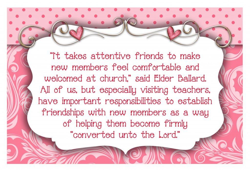February Visiting Teaching- LDS #churchitems