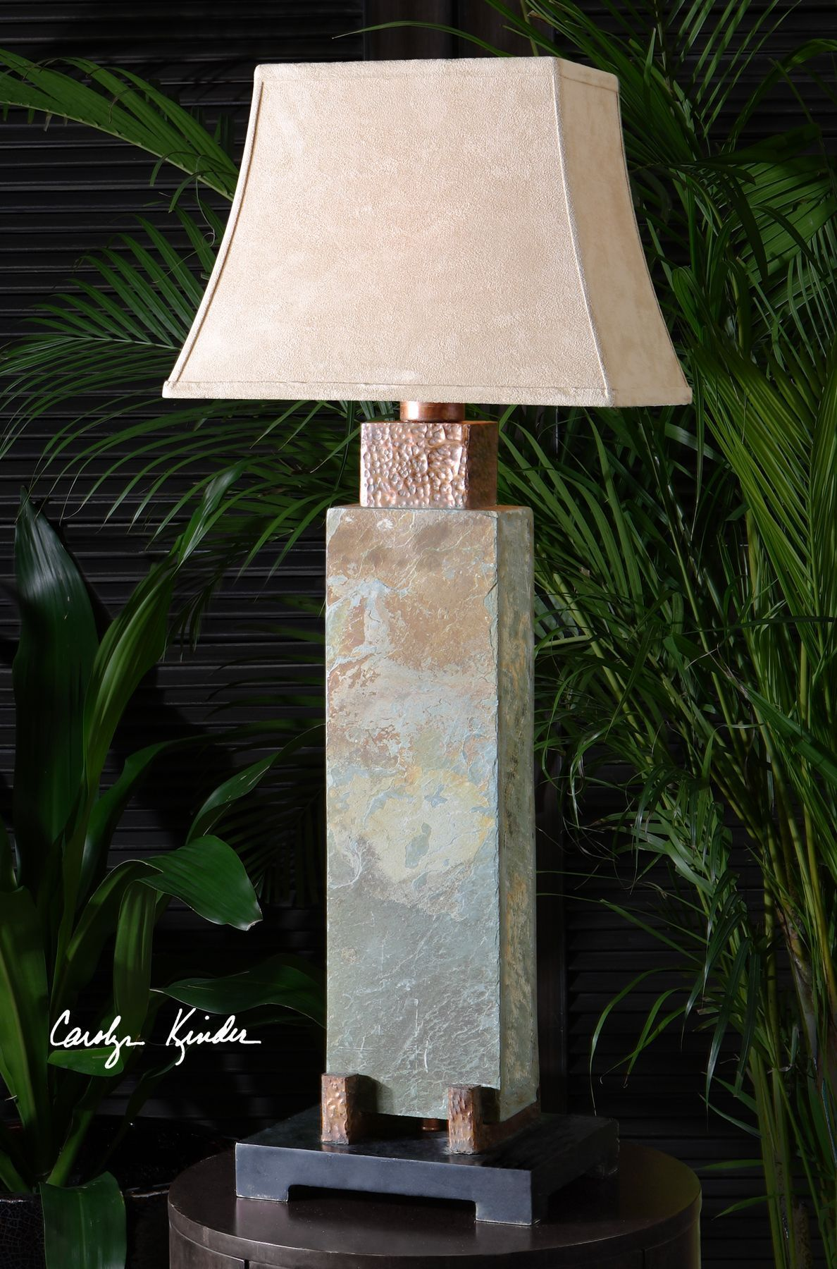 Tall Slate Table Lamp Rustic Table Lamps Tall Table Lamps Outdoor Table Lamps