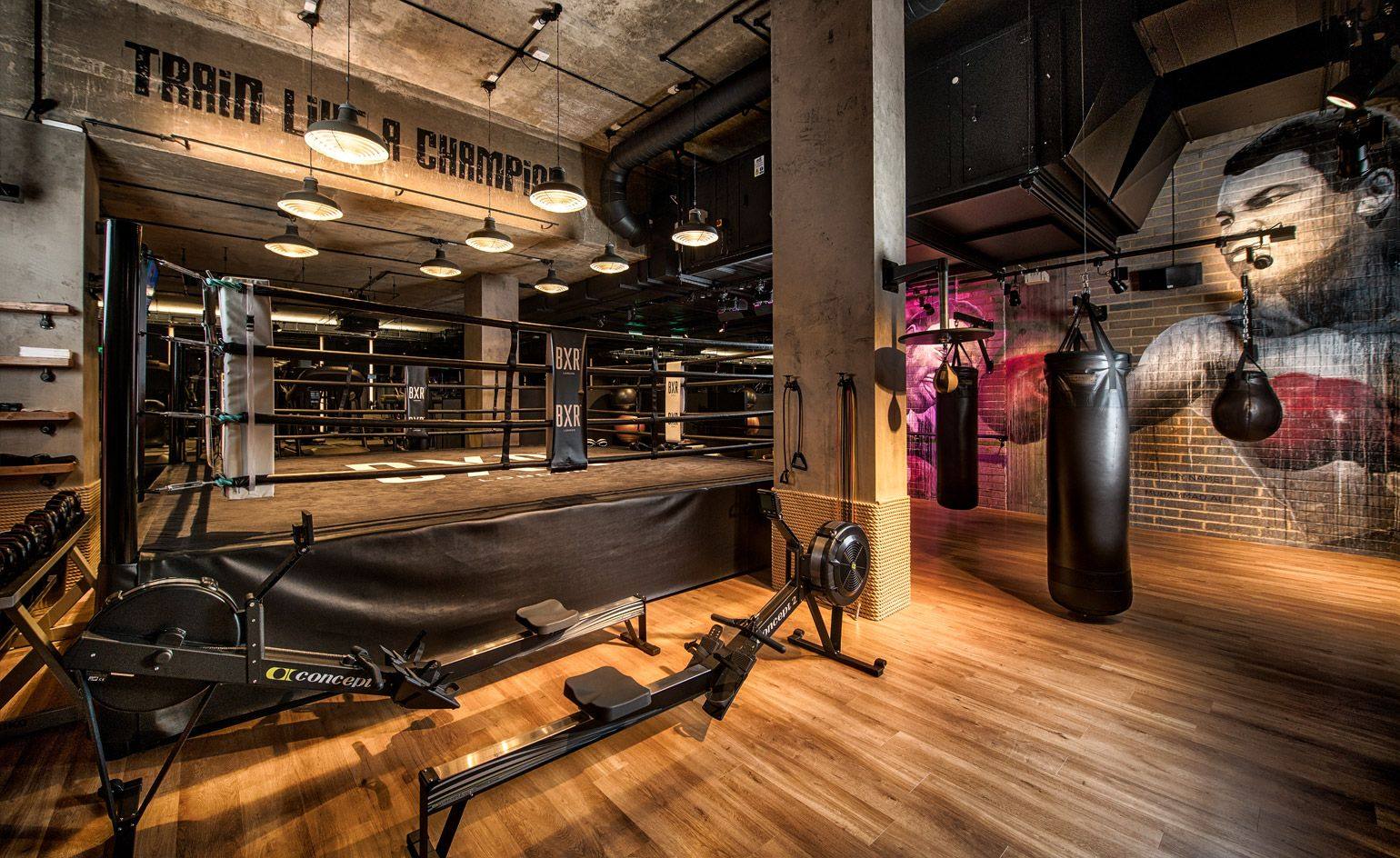 Knock out bergman interiors packs a punch at boutique boxing gym
