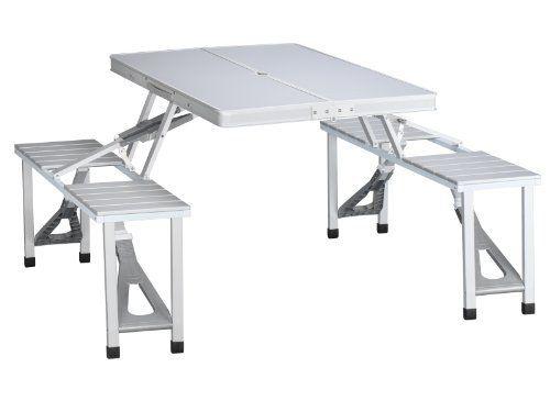 Tristar Table De Pique Nique Pliante Valise En Aluminium 4 Places Modele Ta 0820 Comprar Mesa De Camping T Camping Furniture Camp Furniture Plans Picnic Table