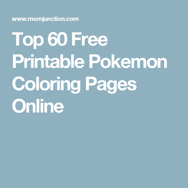 Top 60 Free Printable Pokemon Coloring Pages Online | Pokemon ...