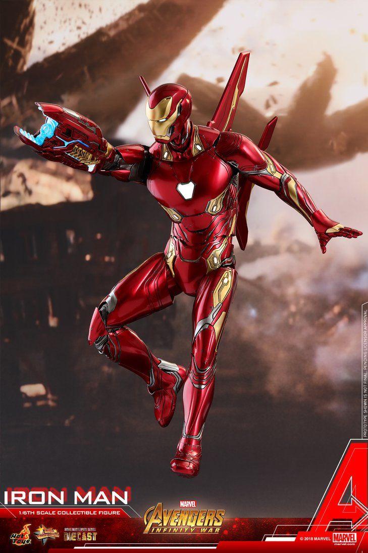 hot toys marvel avengers: infinity war iron man mark 50 1/6 scale