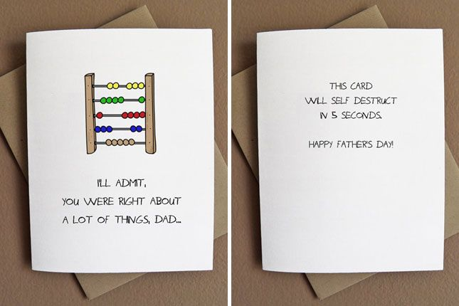 Birthday Cards Diy For Dad ~ Funny father s day cards for dads who are rad cards father