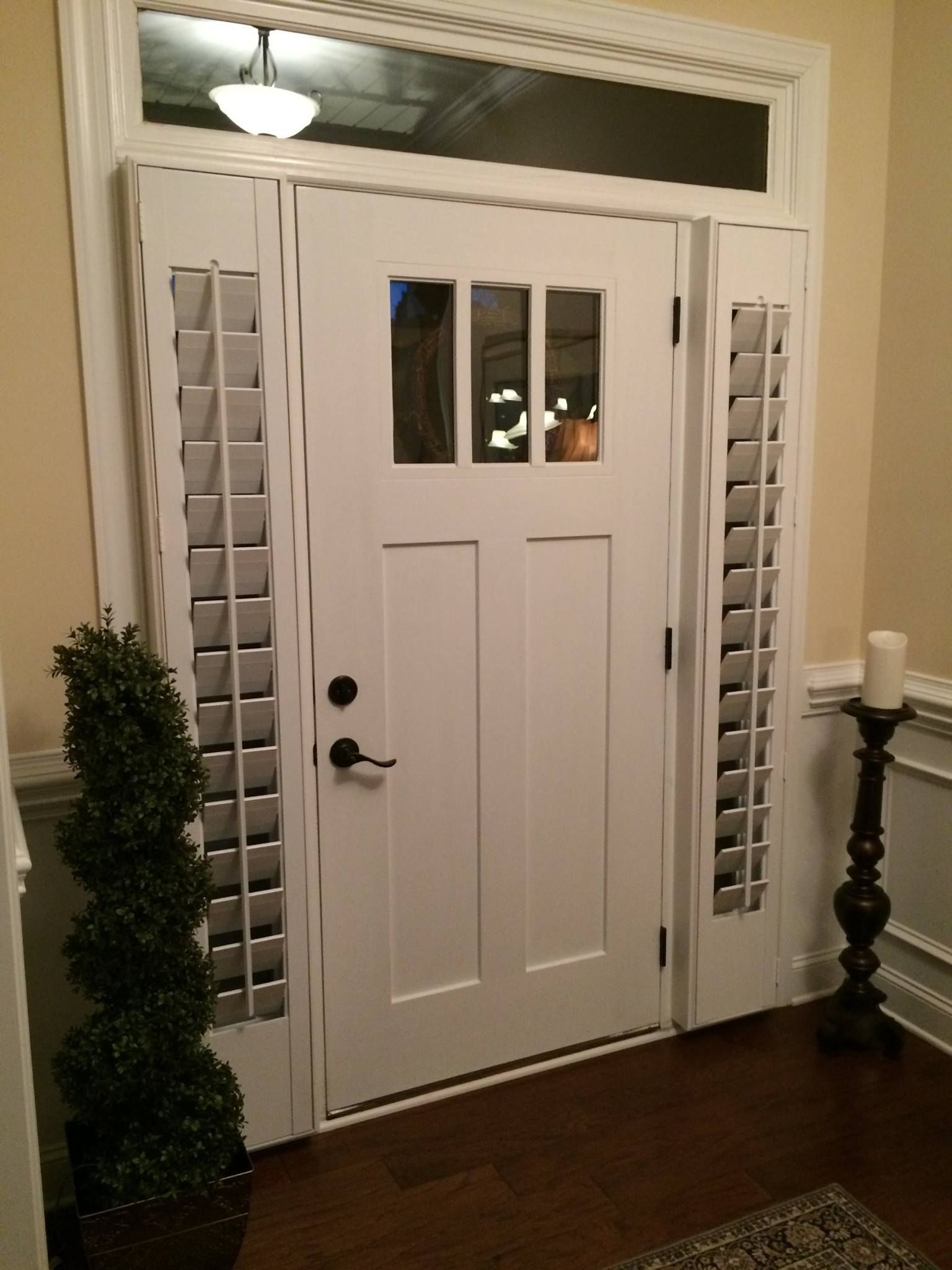 Need a little privacy for your front door sidelight for Front door and sidelights