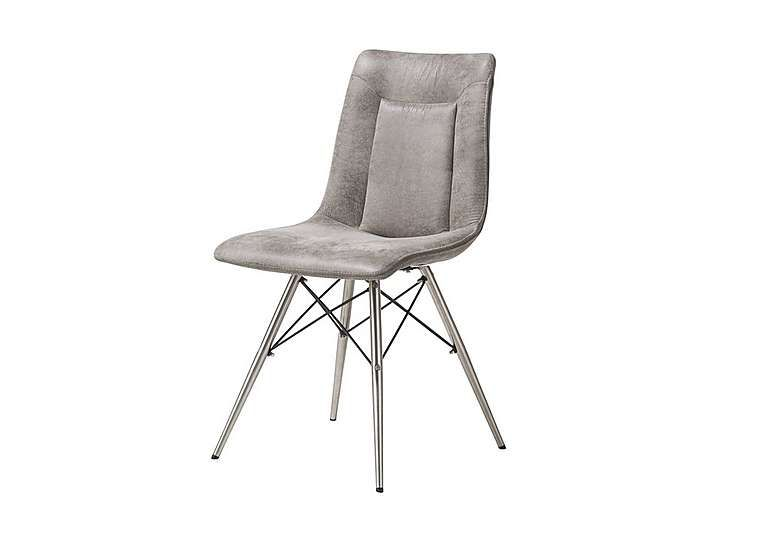 Habufa Panay Chair Simple, Stylish And Square Edged With Industrial Metal  Details Curved,