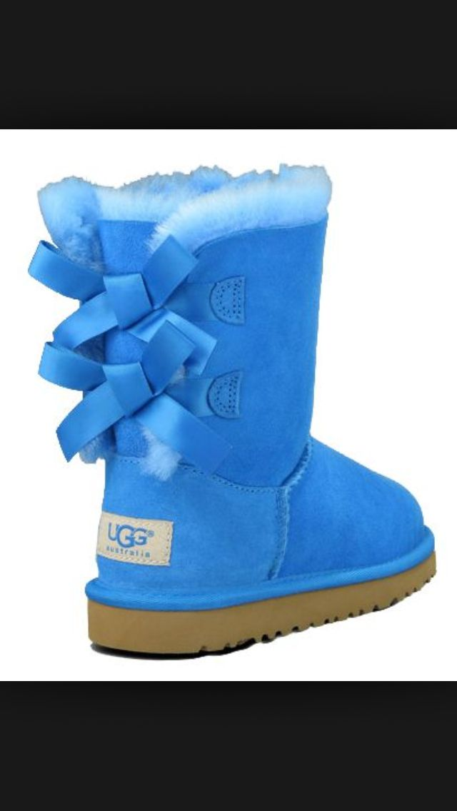 Light Blue Bailey Bow Uggs