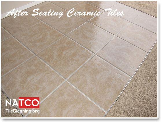 Sealing Ceramic Tiles With A High Gloss Sealer Ceramic Floor Ceramic Floor Tiles Sealing Wood