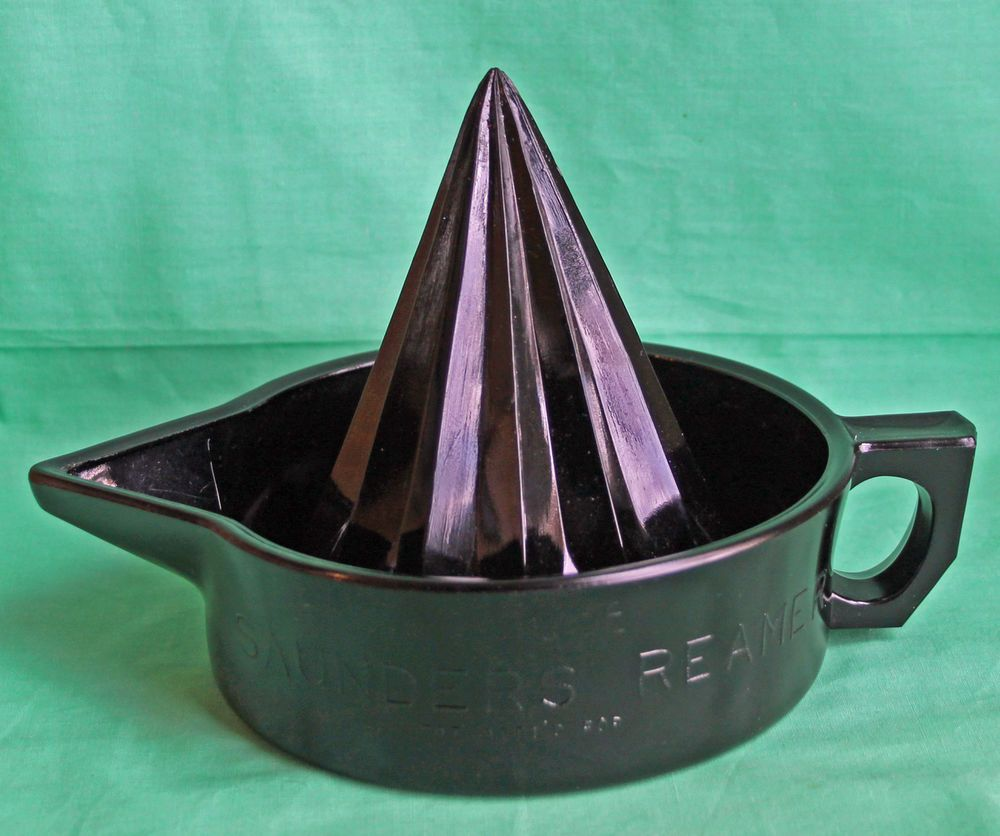 Black Amethyst Glass Witch Hat Saunders Reamer Juicer McKee RARE ...