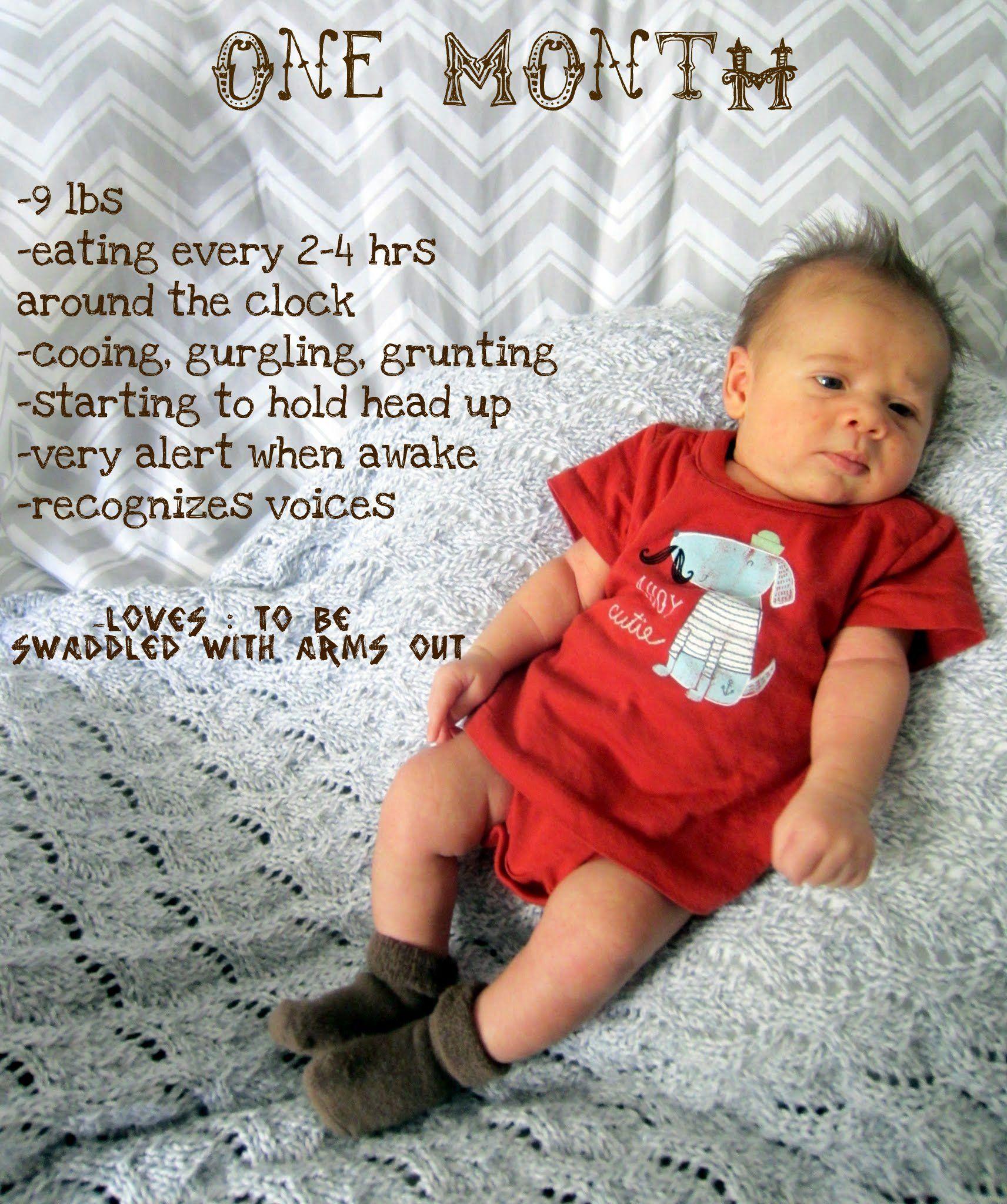 Scrapbook ideas baby milestones - One Month Old Baby Update