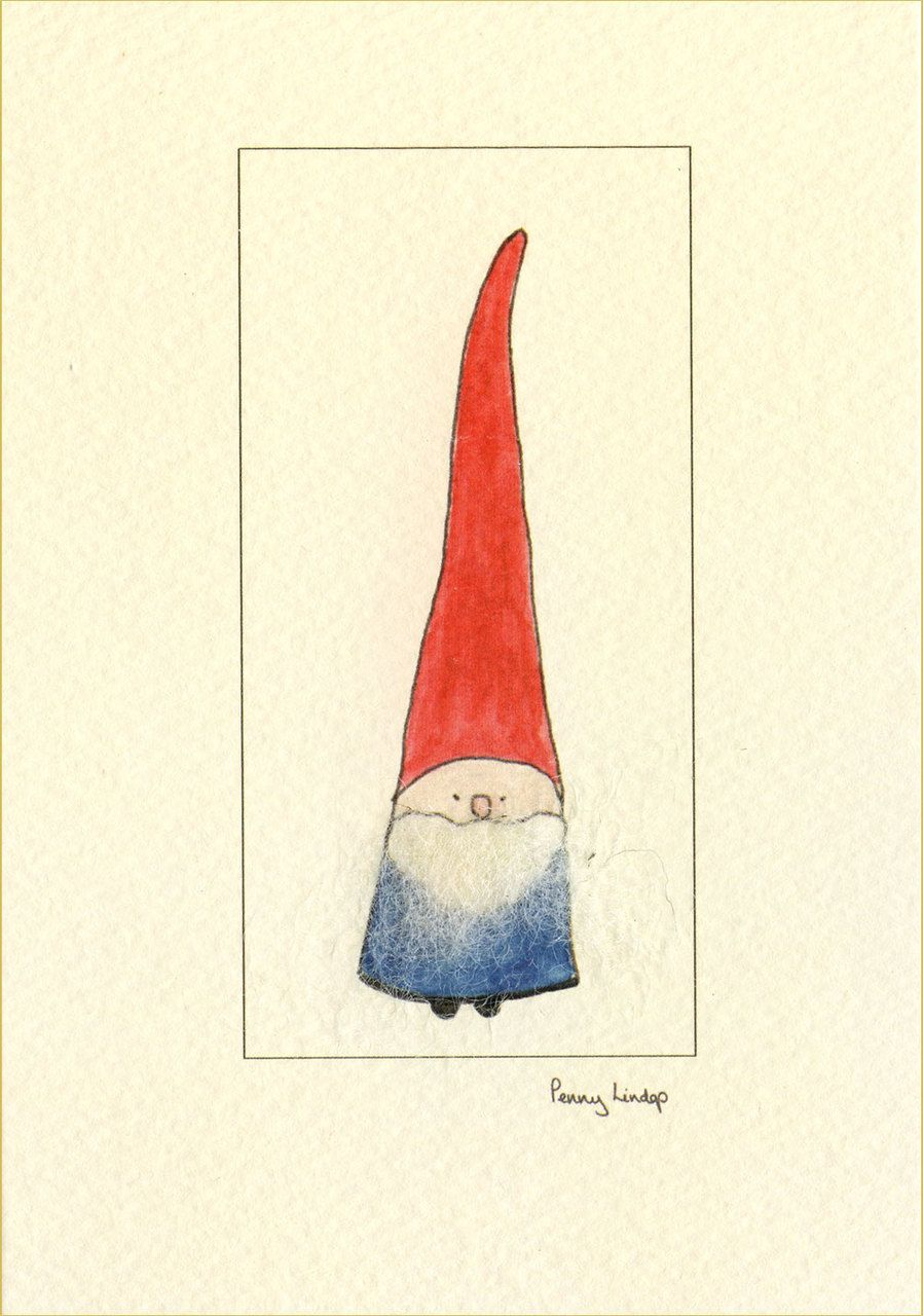 A Christmas Card with a little gnome - handmade at Penny Lindop ...
