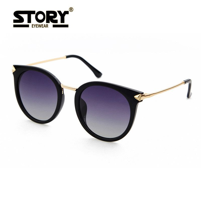 3edccde0347 STORY Women Oval Sunglasses Classic 2017 Brand Designer Sunglasses for men  polarized sunglasses unisex driving eyewear men model   This is an  AliExpress ...