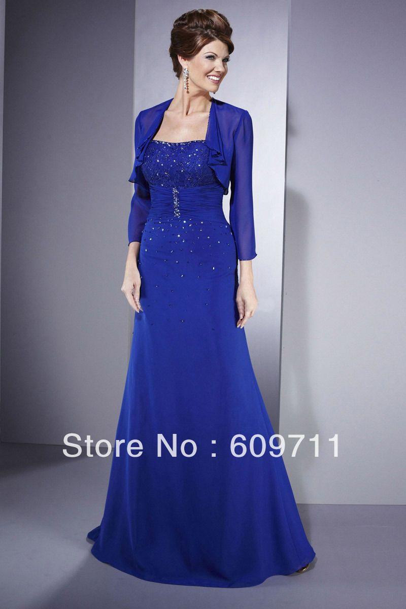 Long v-neck evening dresses with lace short jackets  e6bb6d9340a6