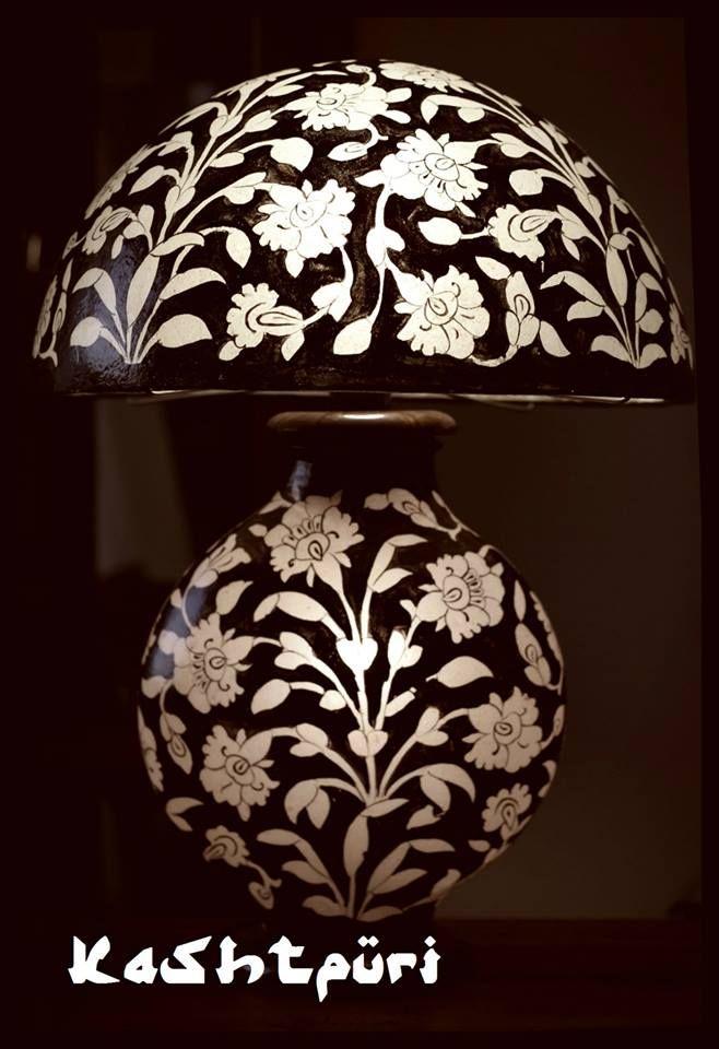 Camel-skin table lamp by KASHTPURI. To check more : https://www.facebook.com/pages/Kashtpuri/287811578041014?ref=hl