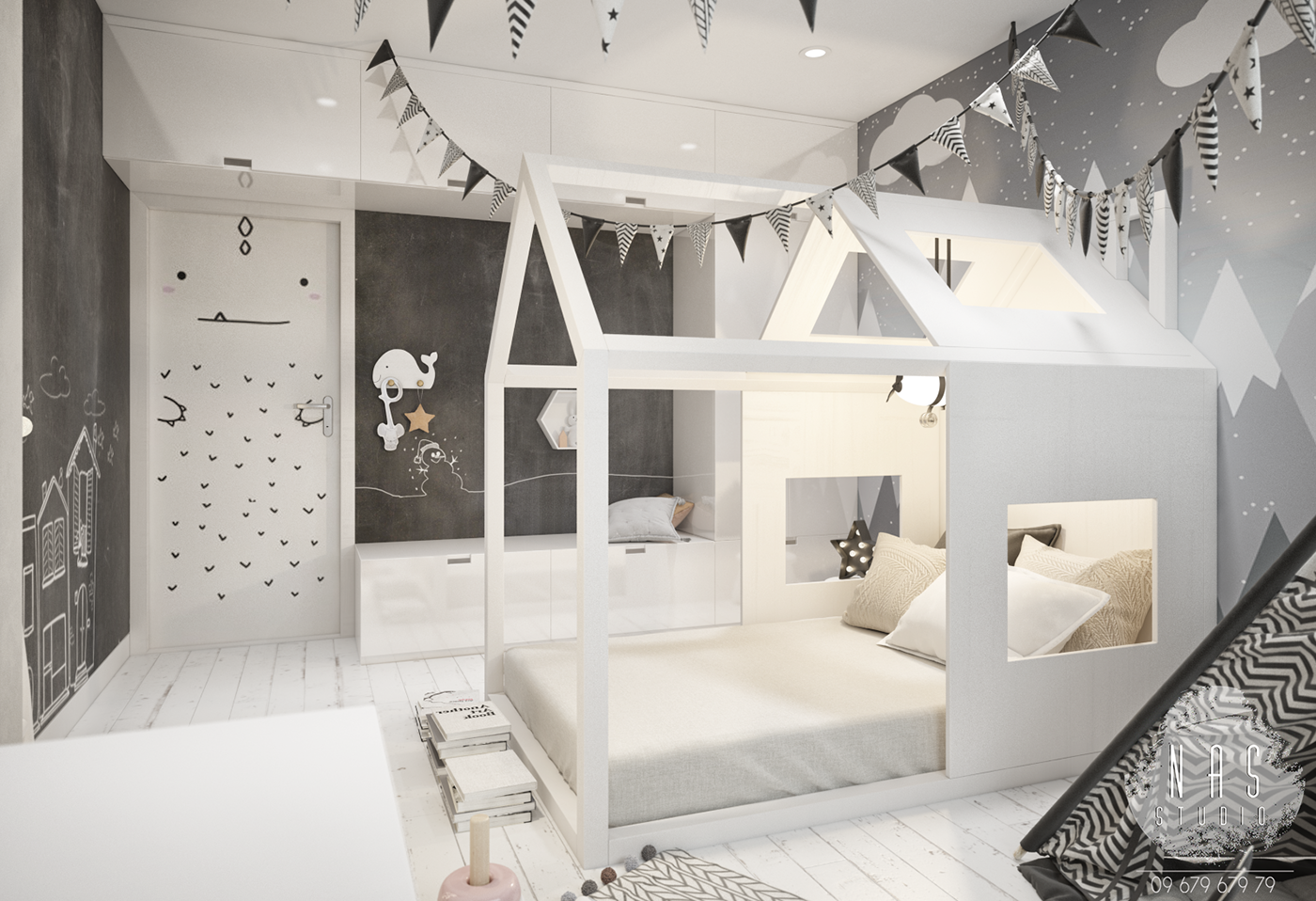 children 39 s room scandinavian style babyzimmer. Black Bedroom Furniture Sets. Home Design Ideas
