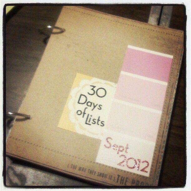 30 Days of List My Journal