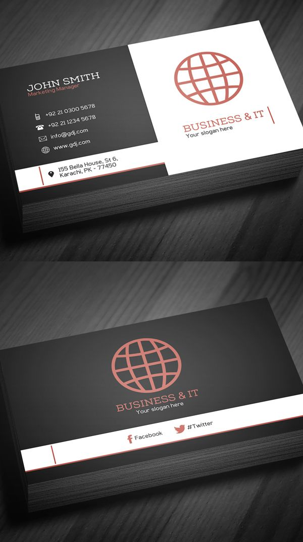 Free Corporate Business Card Template DOPE DESIGS Pinterest - Template business card