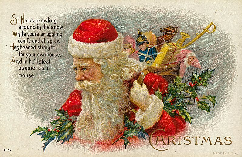 Vintage Santa Claus View Full Size Christmas Postcard Printable Christmas Cards Free Printable Christmas Cards