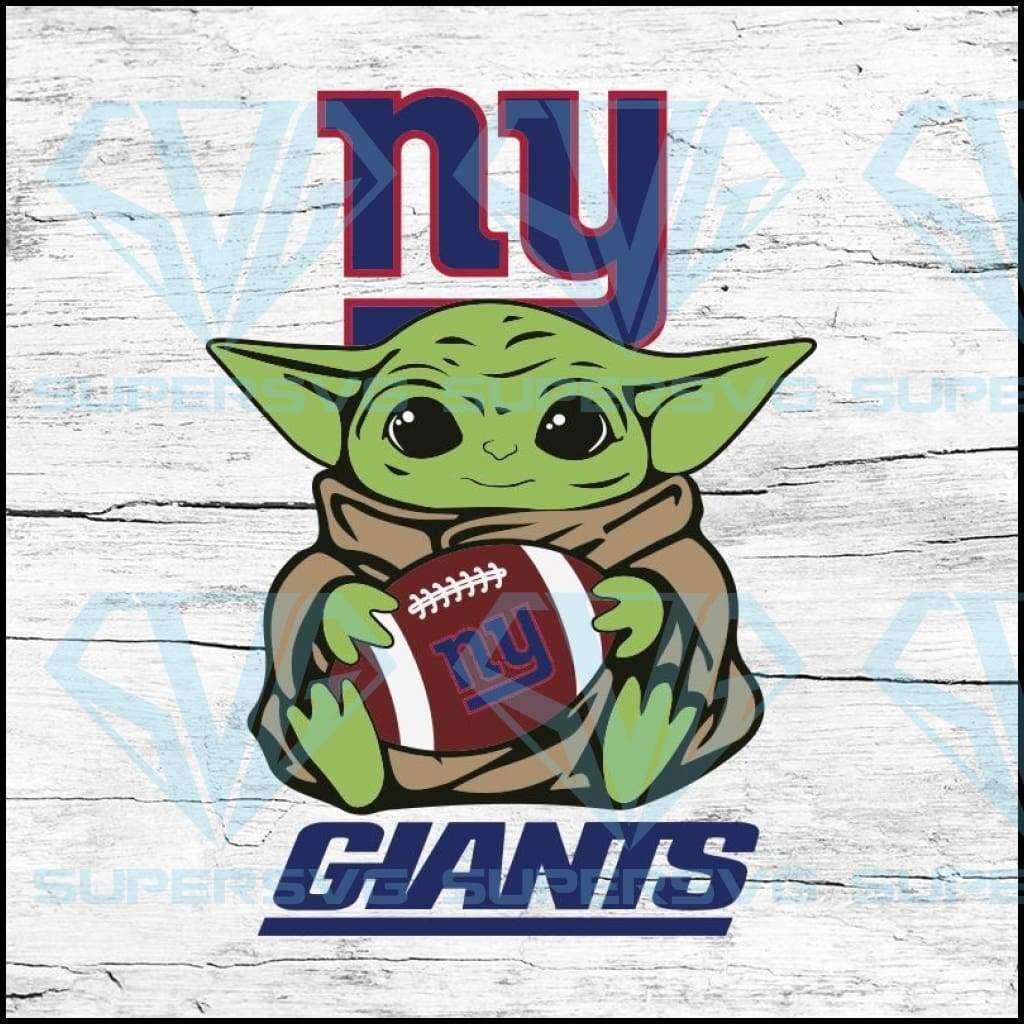 Baby Yoda Star Wars New York Giants Svg Nfl Svg Football Svg Cricut File Svg Supersvg New York Giants Star Wars Yoda Nfl
