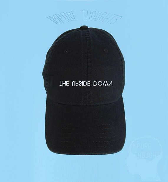 9614bde2e6f THE UPSIDE DOWN Dad Hat Embroidered Baseball Cap Black Low Profile Custom  Strap Back Unisex Adjustab