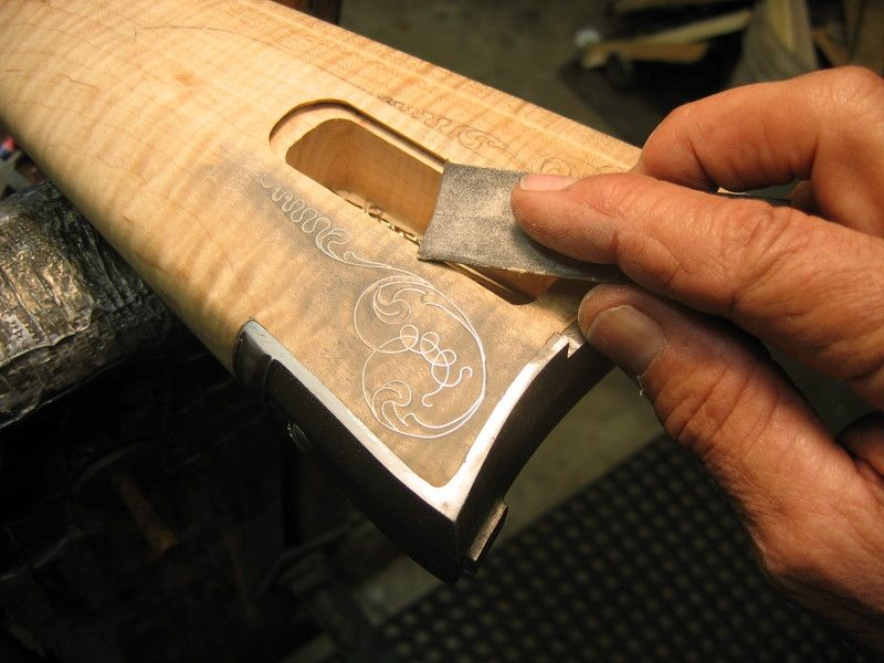Silver Wire Inlay   Muzzle loading   Pinterest   Woodworking ...