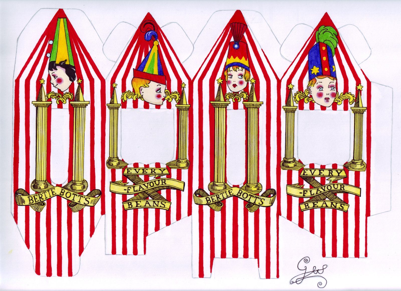 photograph relating to Bertie Botts Every Flavor Beans Printable called Bertie Botts Beans colored as a result of GwendolynWolters.deviantart