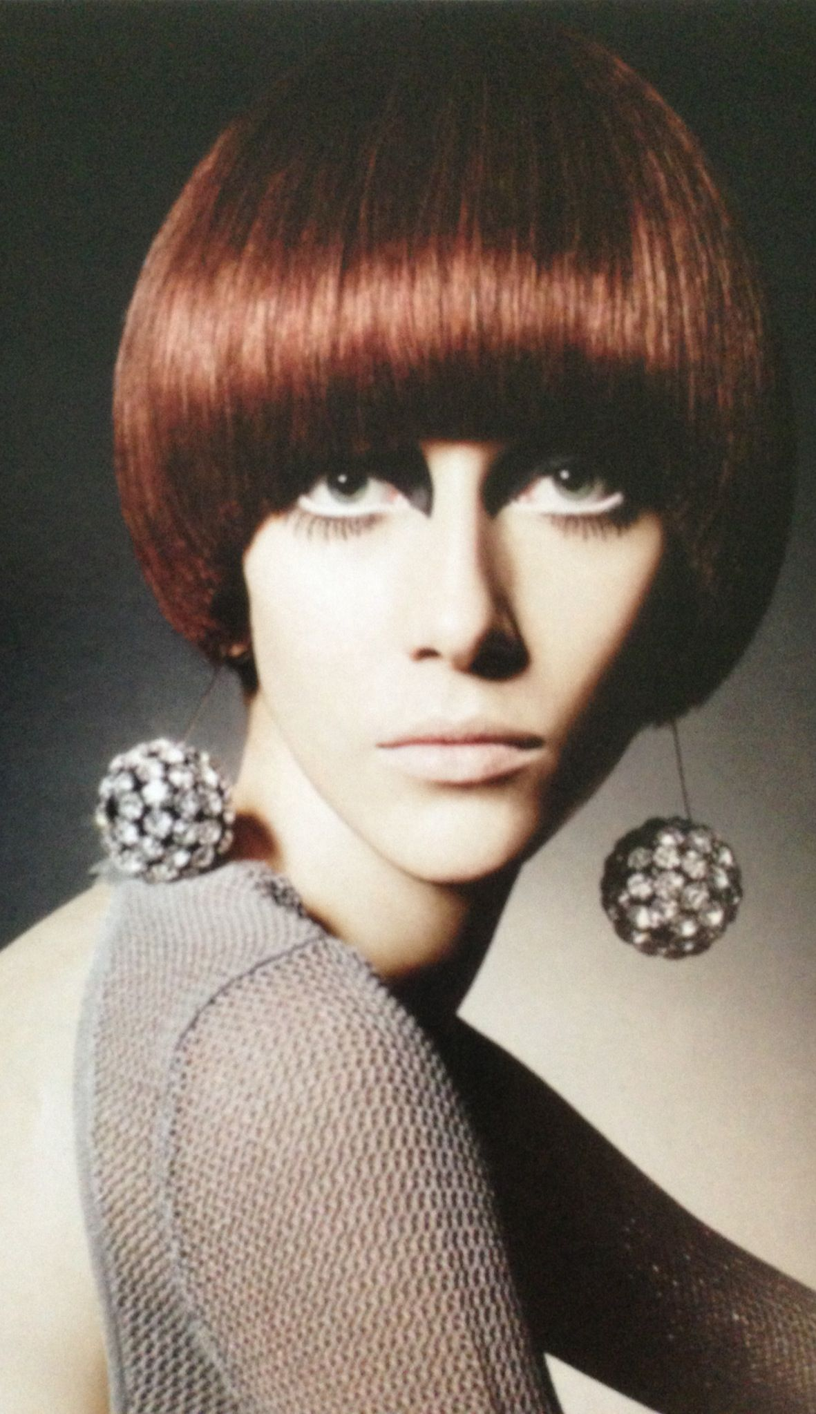 1960 s Mod Hair & Makeup round bowl cut