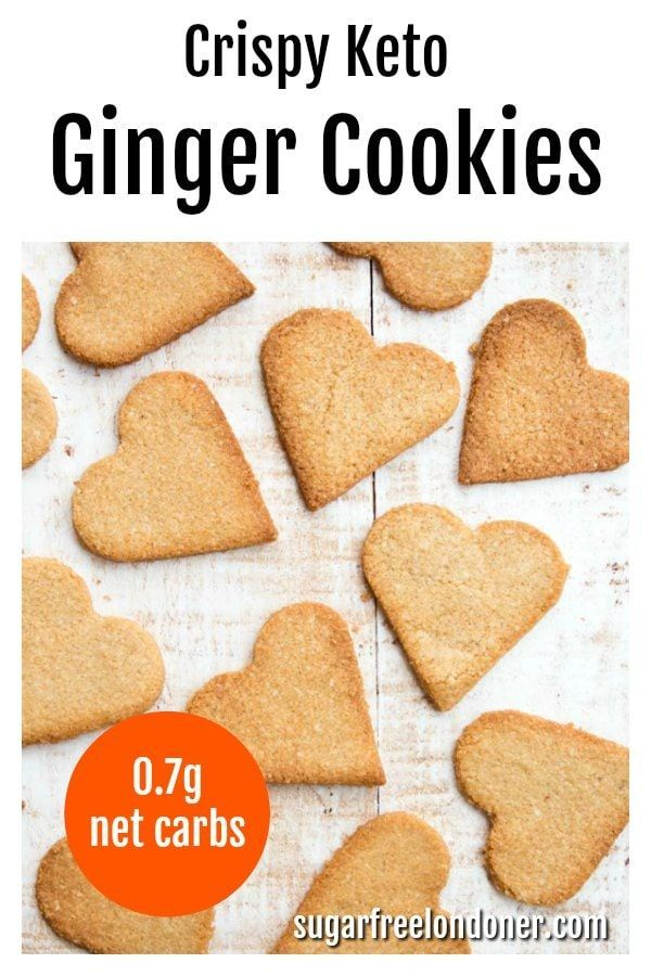 These keto ginger cookies are crispy and buttery with a gorgeous spicy kick. Learn how to make sugar free gingerbread cookies in less than 30 minutes! A great gluten free and low carb dessert or snack. #gingerbread #ketocookies #sugarfreecookies #christmascookies
