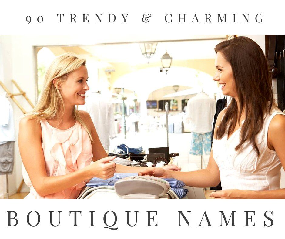 90 Trendy And Charming Boutique Names Dark Brown Low