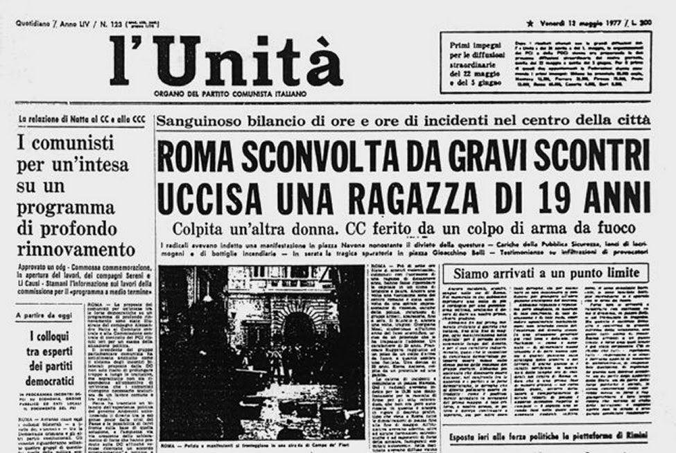 giornodopogiorno: 12 maggio 1977: l'assassinio di Giorgiana Masi