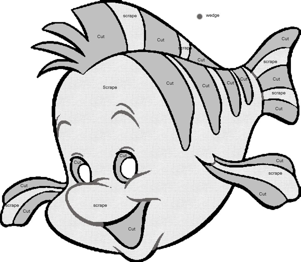 Flounder Pumpkin Carving Template From Disneys The Little Mermaid