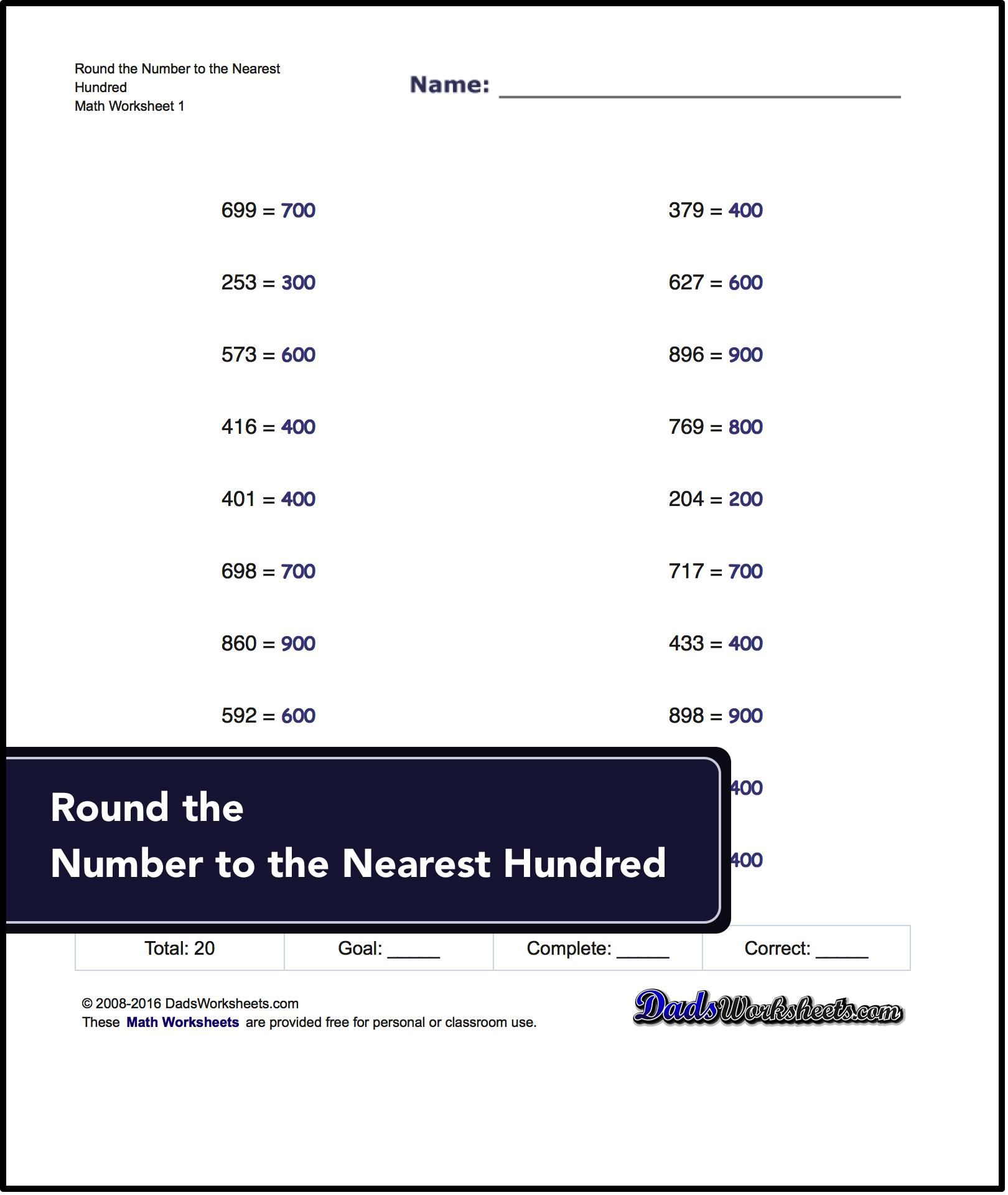 worksheet Free Rounding Worksheets a great starting place for building rounding concepts basic worksheets
