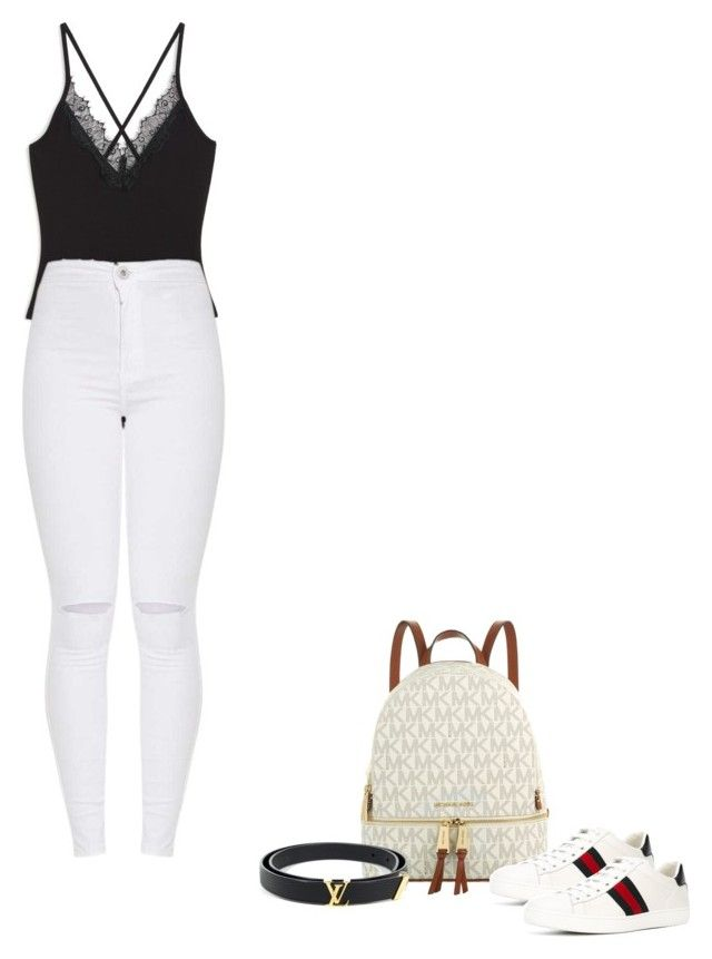 """Lit"" by puneh-kuchak-1 on Polyvore featuring Michael Kors, Monki, Gucci and Louis Vuitton"