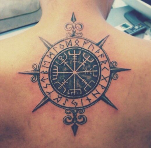 viking compass tattoo pinterest. Black Bedroom Furniture Sets. Home Design Ideas