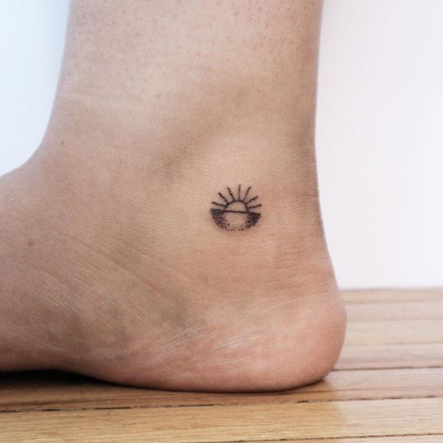 Tiny Sunset For Christina Sunset Tattoos Feet Tattoos Surf Tattoo