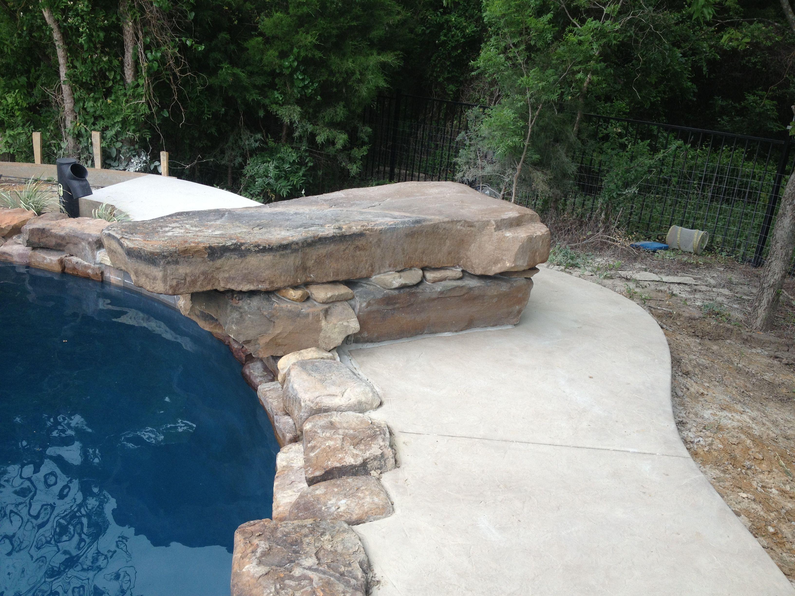 Rock diving board pool ideas pinterest diving board for Pool platform ideas