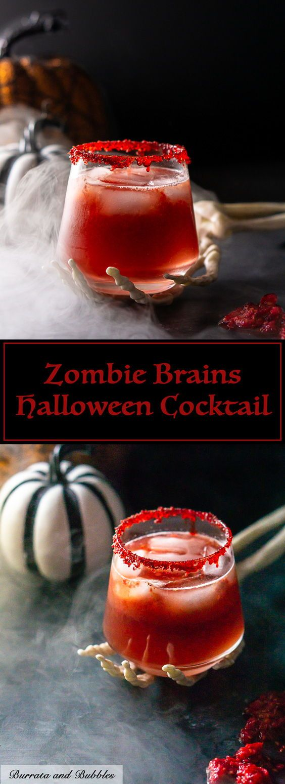 Zombie Brains Halloween Cocktail Recipe Halloween Cocktail Recipes Halloween Cocktails Halloween Food For Party