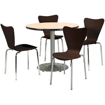 Kfi Seating 5 Piece Dining Set Cafeteria Table 5 Piece Dining Set Table Chair Sets